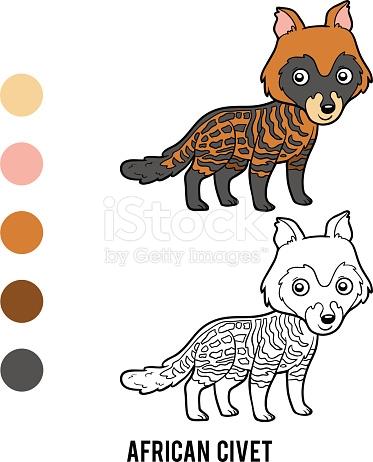 Civet coloring #16, Download drawings
