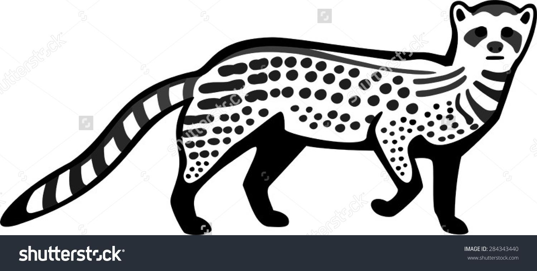 Civet coloring #2, Download drawings