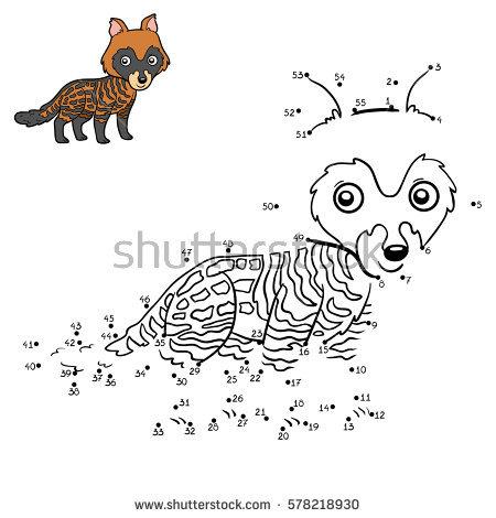 Civet coloring #7, Download drawings