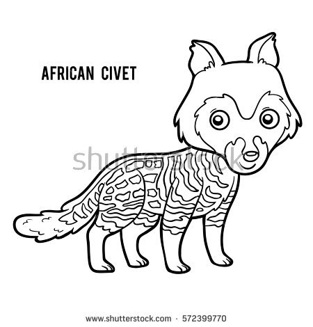 Civet coloring #17, Download drawings