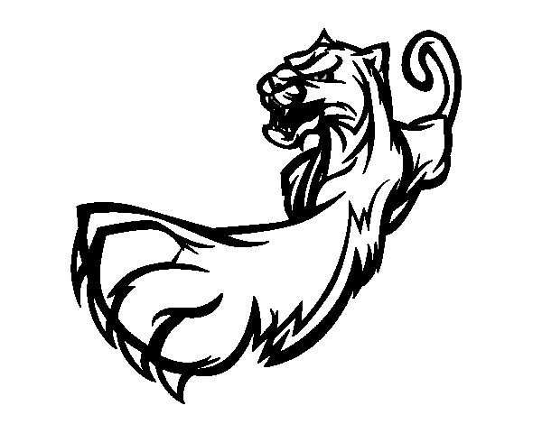 Claw coloring download claw coloring for Tiger paw coloring page