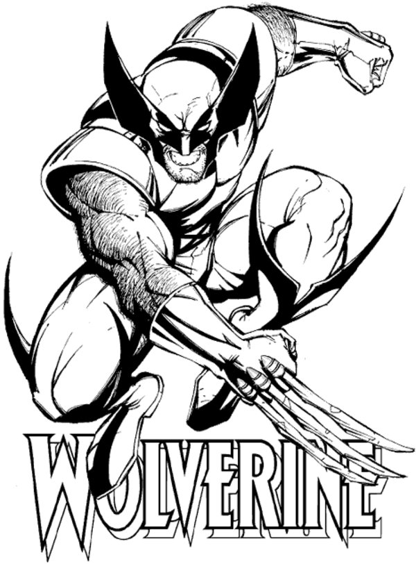 Wolverine coloring #20, Download drawings