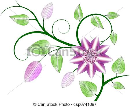 Clematis clipart #17, Download drawings