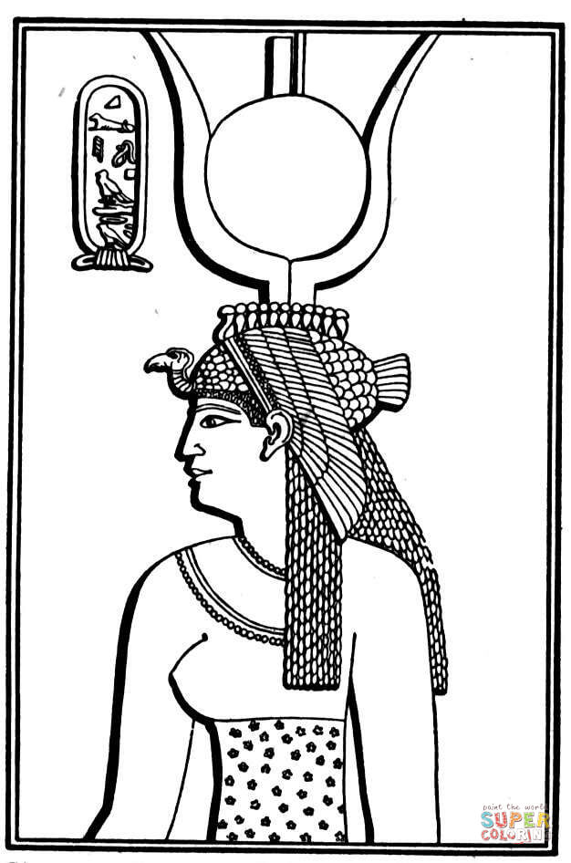 Cleopatra coloring #7, Download drawings
