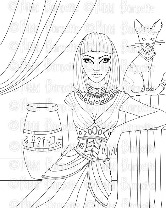 Cleopatra coloring #1, Download drawings