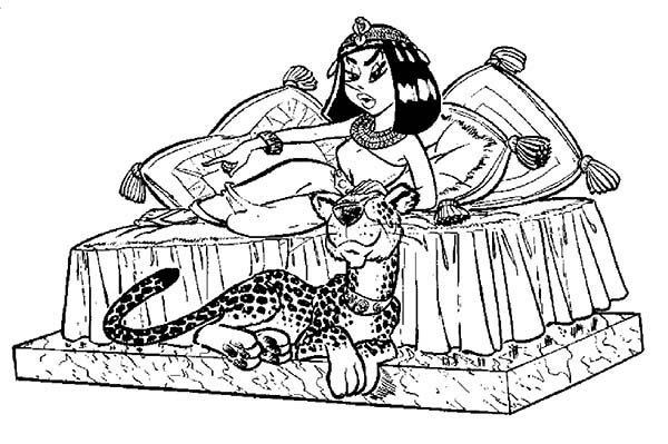 Cleopatra coloring #15, Download drawings