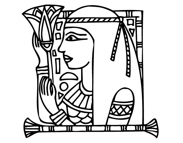 Cleopatra coloring #9, Download drawings