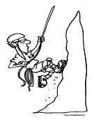 Climbing coloring #6, Download drawings