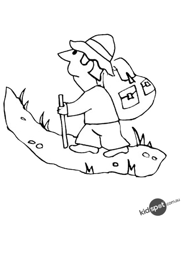 mountain climber coloring pages - photo#11