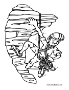 Climbing coloring #8, Download drawings