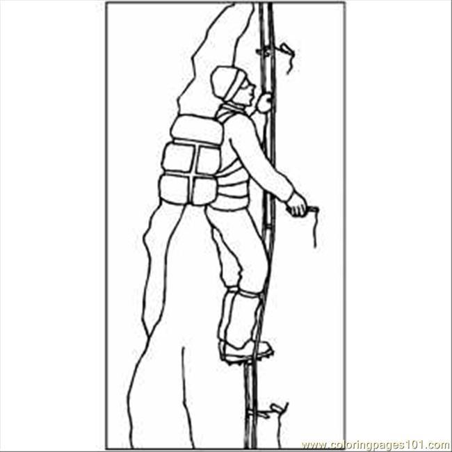 Climbing coloring #15, Download drawings