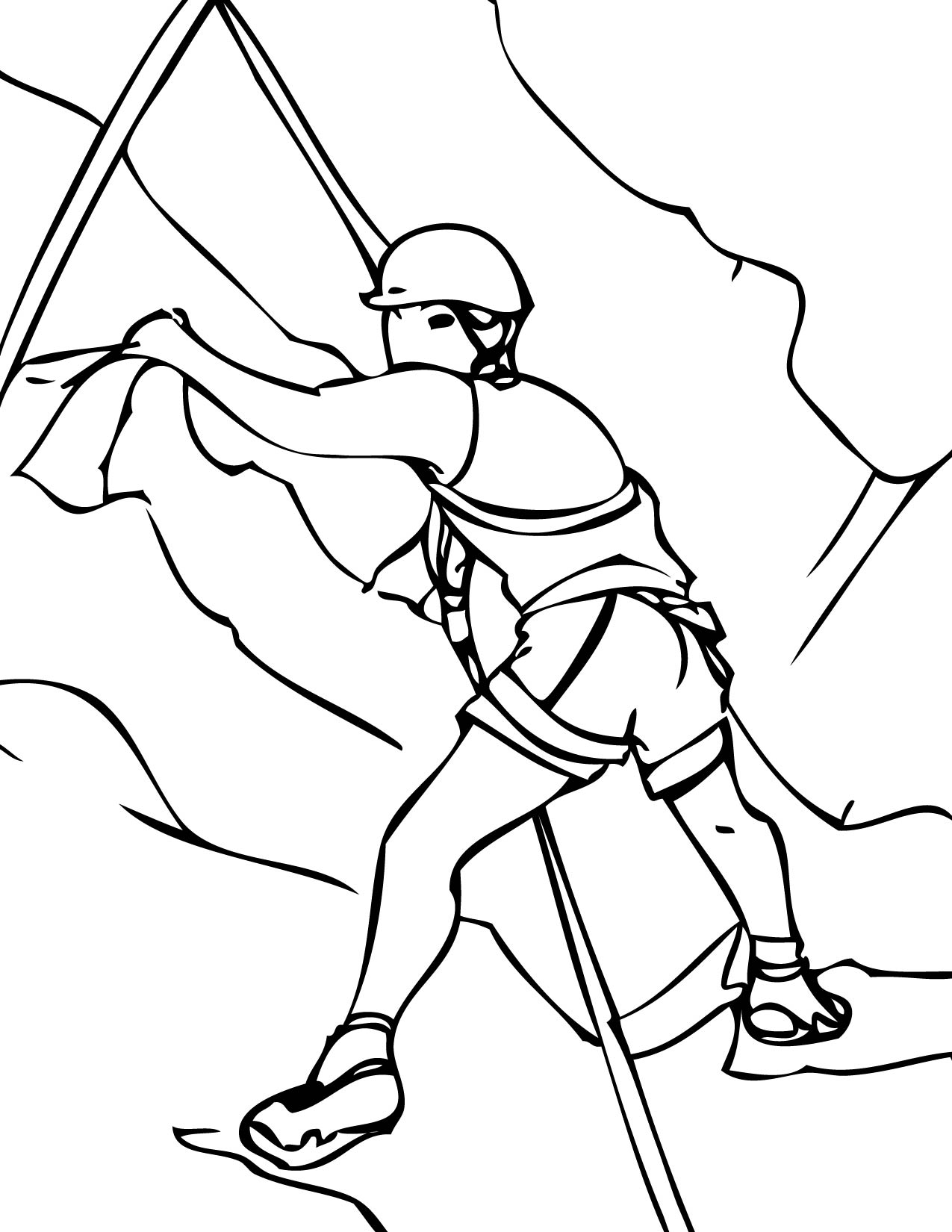 Climbing coloring #18, Download drawings