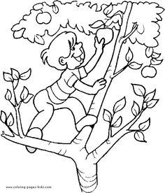 Climbing Tree coloring #16, Download drawings