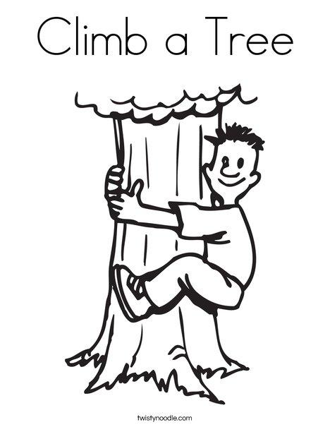 Climbing Tree coloring #20, Download drawings