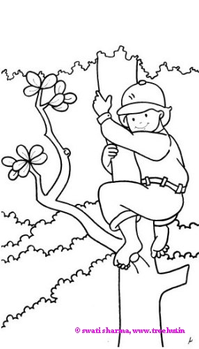 Climbing Tree coloring #11, Download drawings