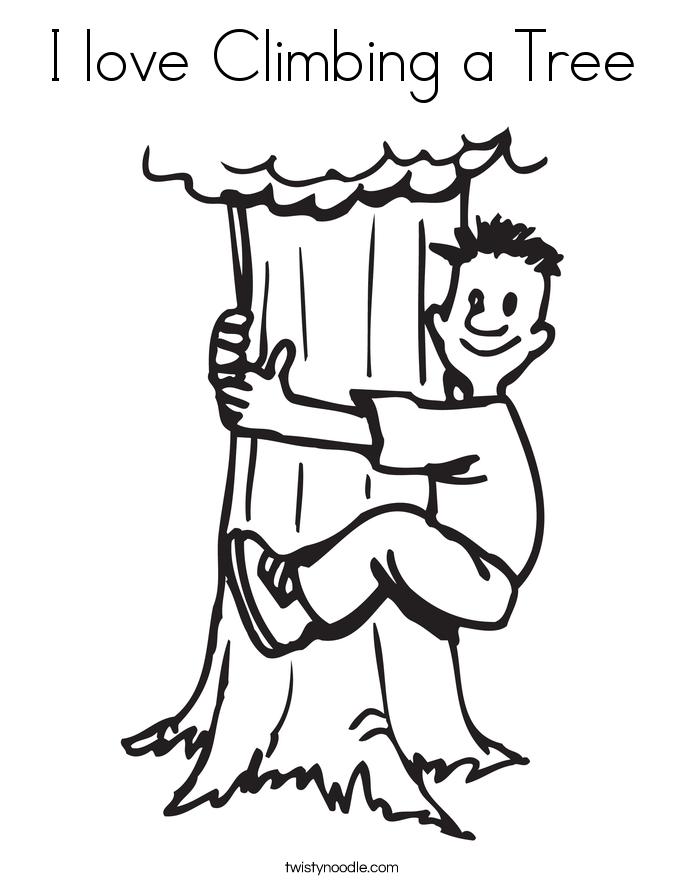 Climbing Tree coloring #18, Download drawings