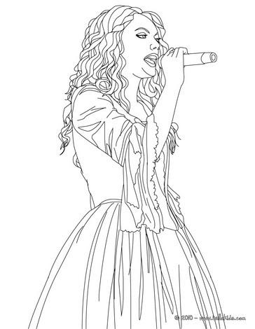 Singer coloring #8, Download drawings
