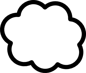Cloud clipart #3, Download drawings