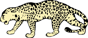Leopard clipart #2, Download drawings