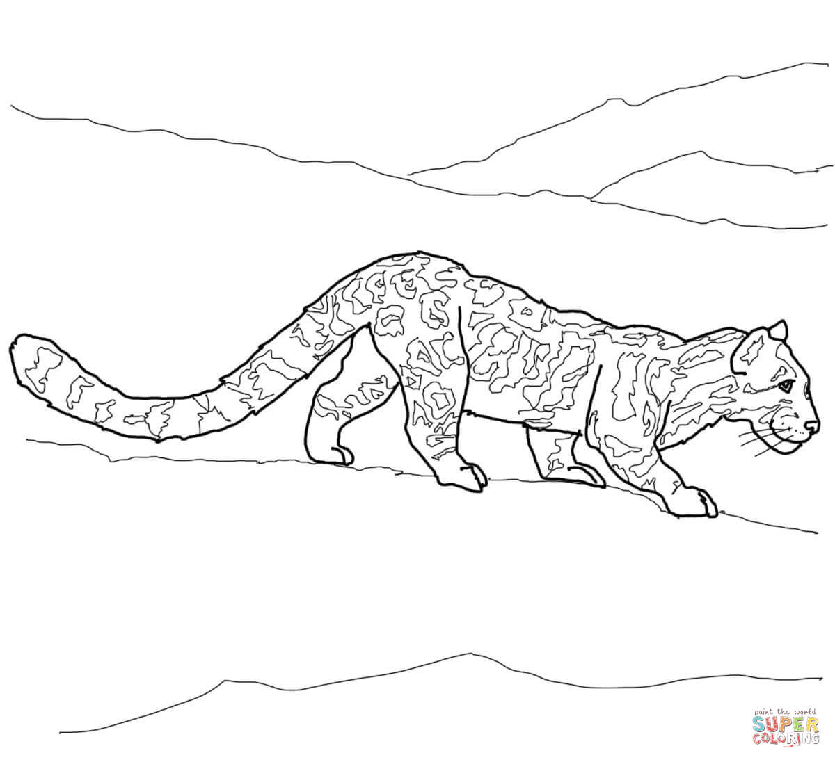 Clouded Leopard  coloring #6, Download drawings