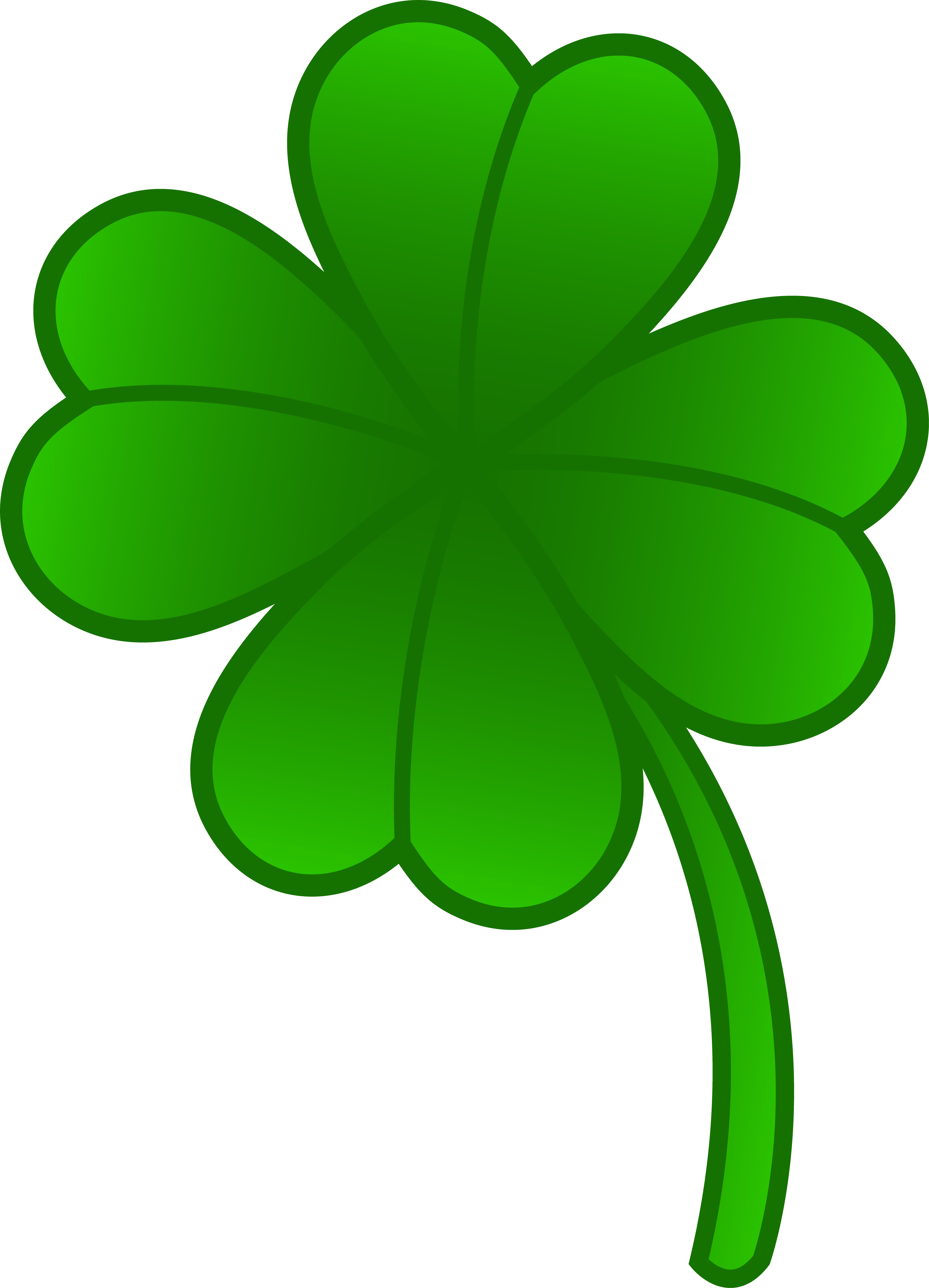 Clover clipart #2, Download drawings