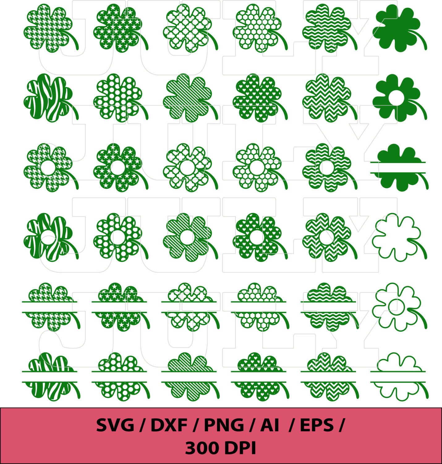 Clover svg #1, Download drawings