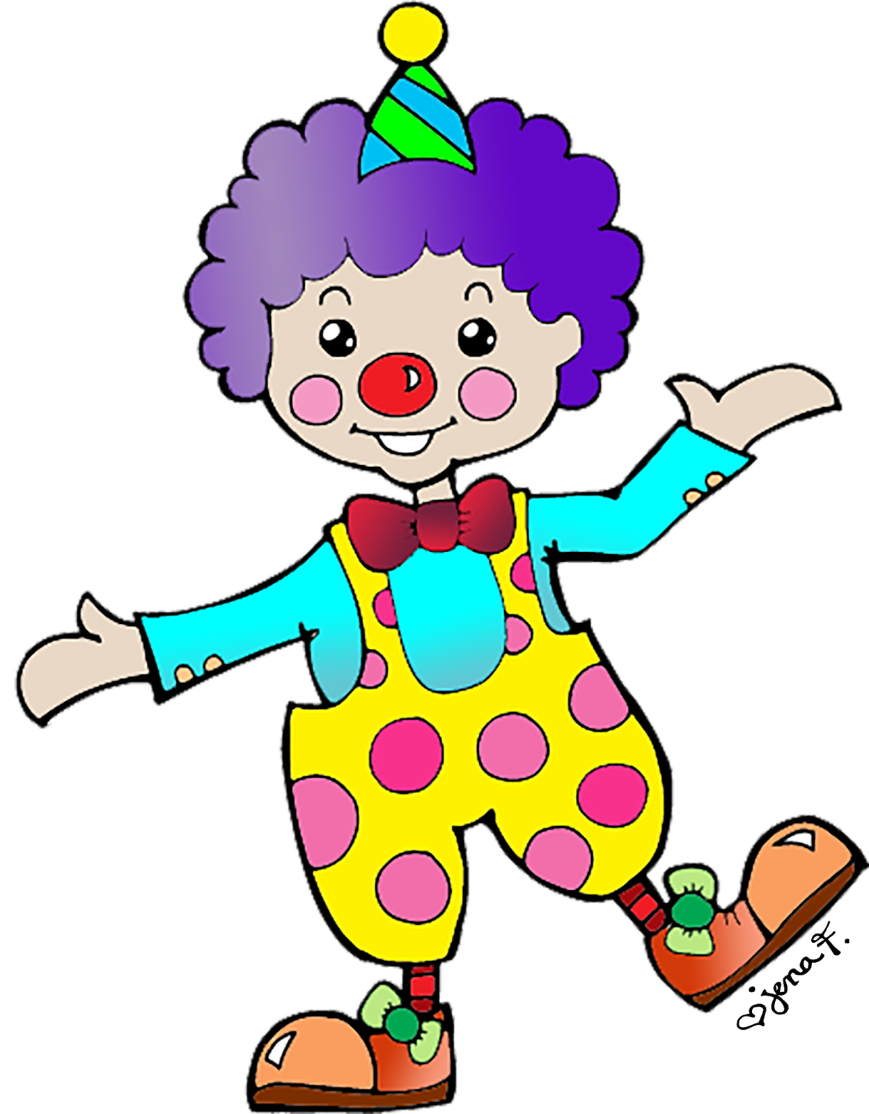 Clown clipart #2, Download drawings
