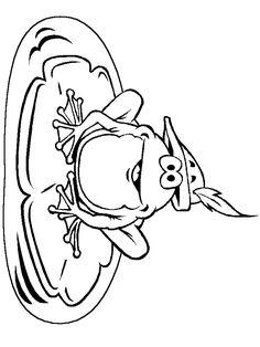 Clown Frog coloring #12, Download drawings