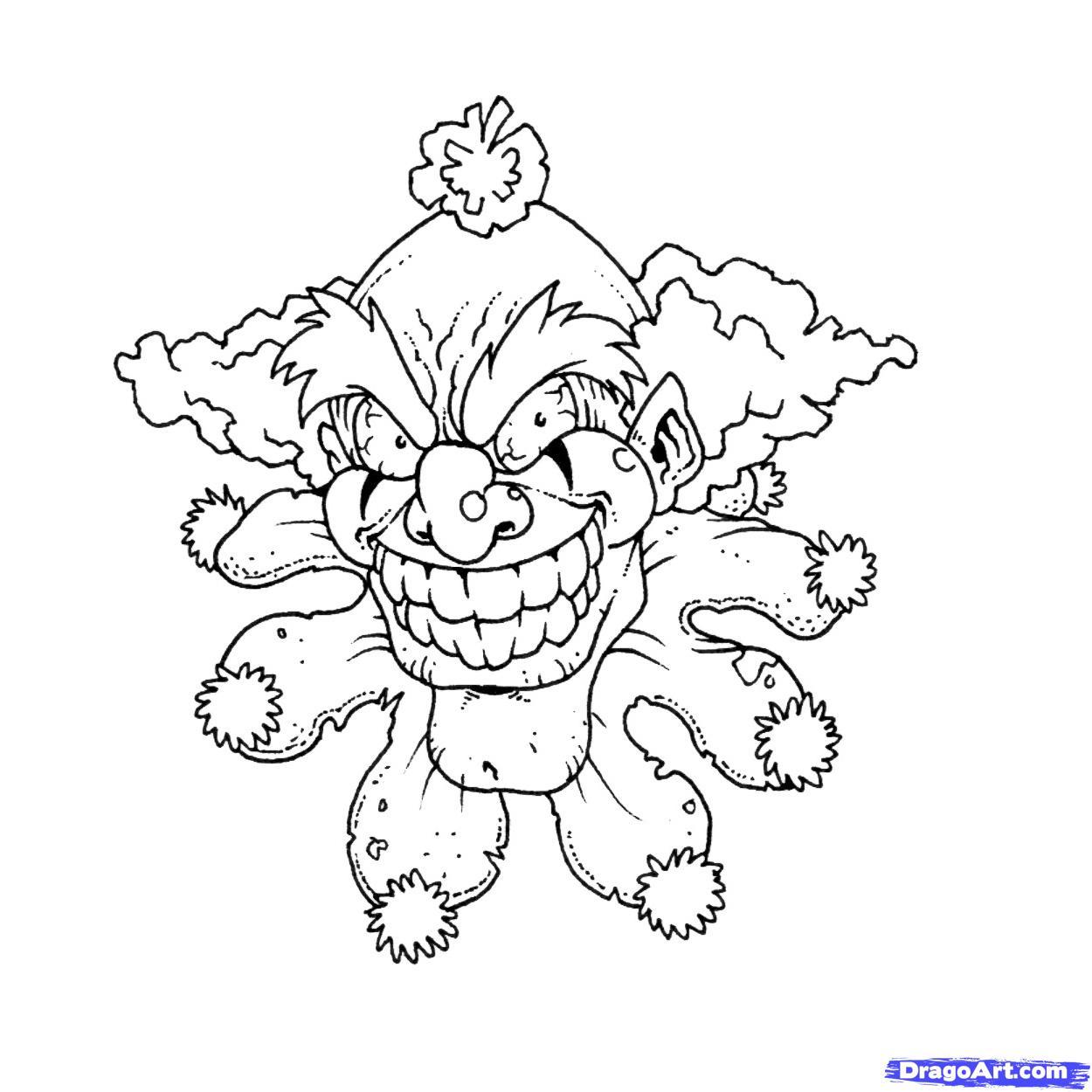 Clown Frog coloring #7, Download drawings