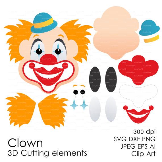 Clown svg #9, Download drawings