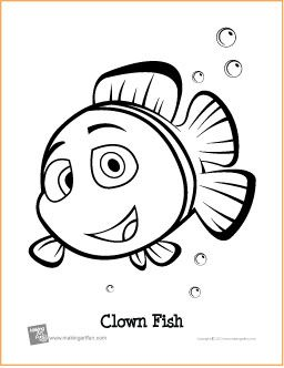 Clownfish coloring #1, Download drawings