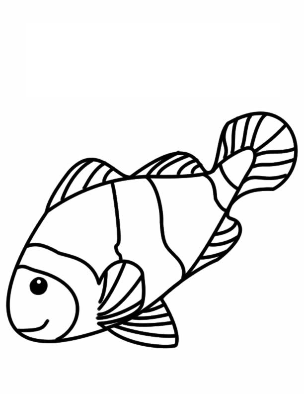 Clownfish coloring #19, Download drawings