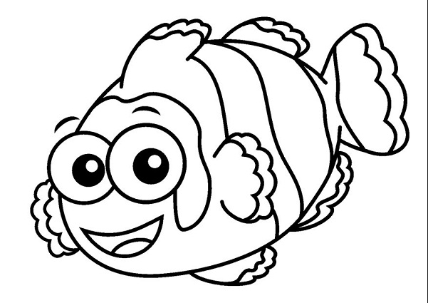 Clownfish coloring #4, Download drawings