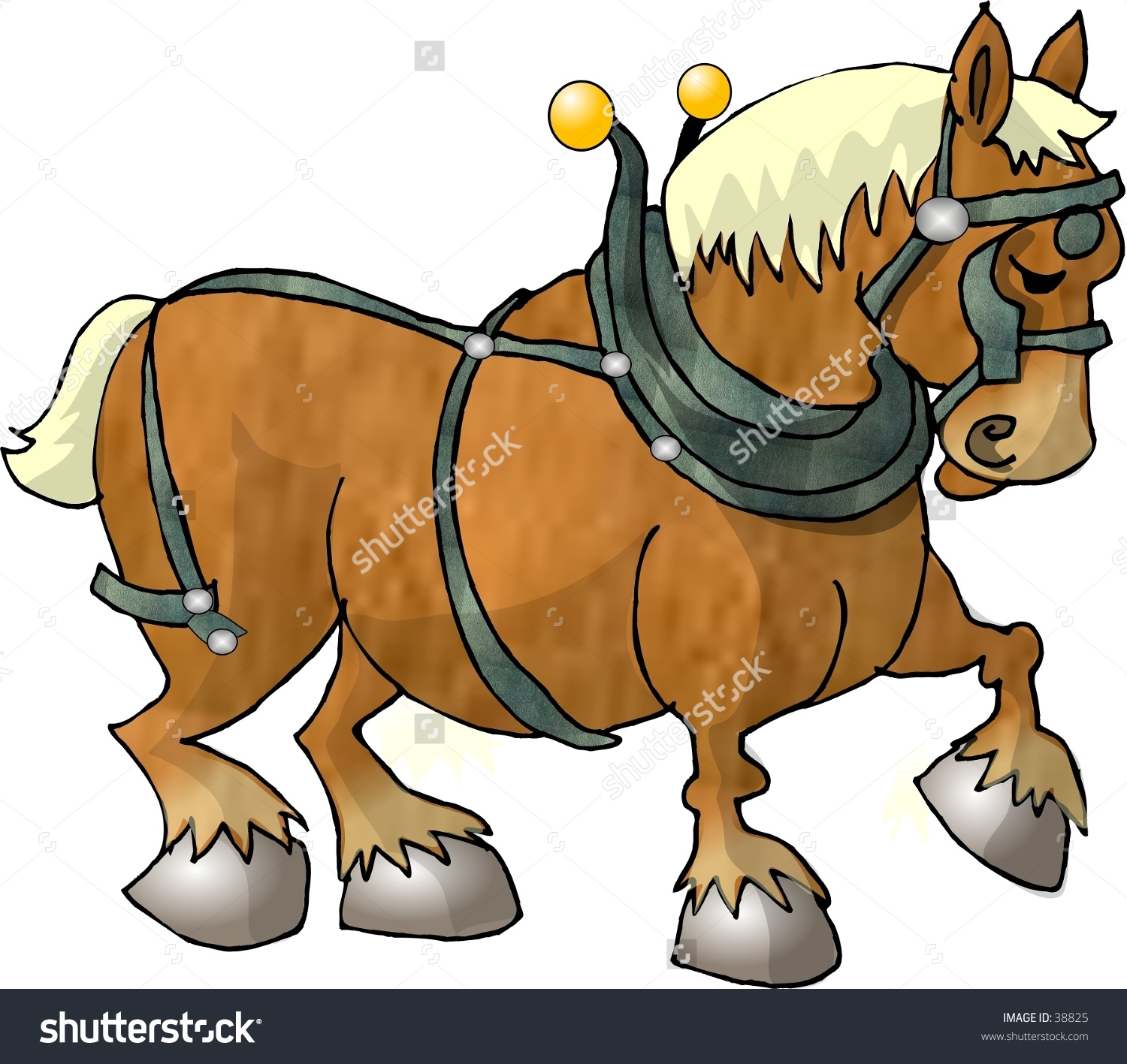 Clydesdale clipart #2, Download drawings