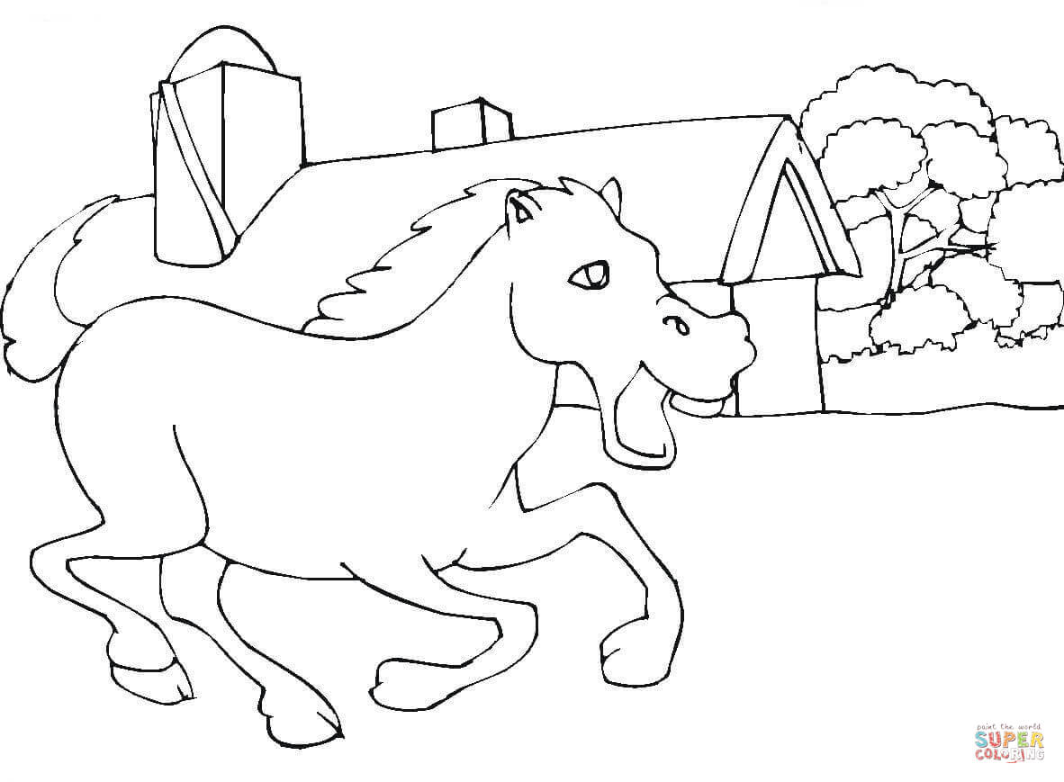 Clydesdale coloring #4, Download drawings