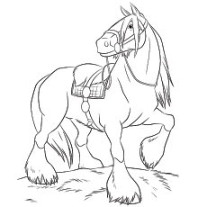 Draught Horse coloring #17, Download drawings