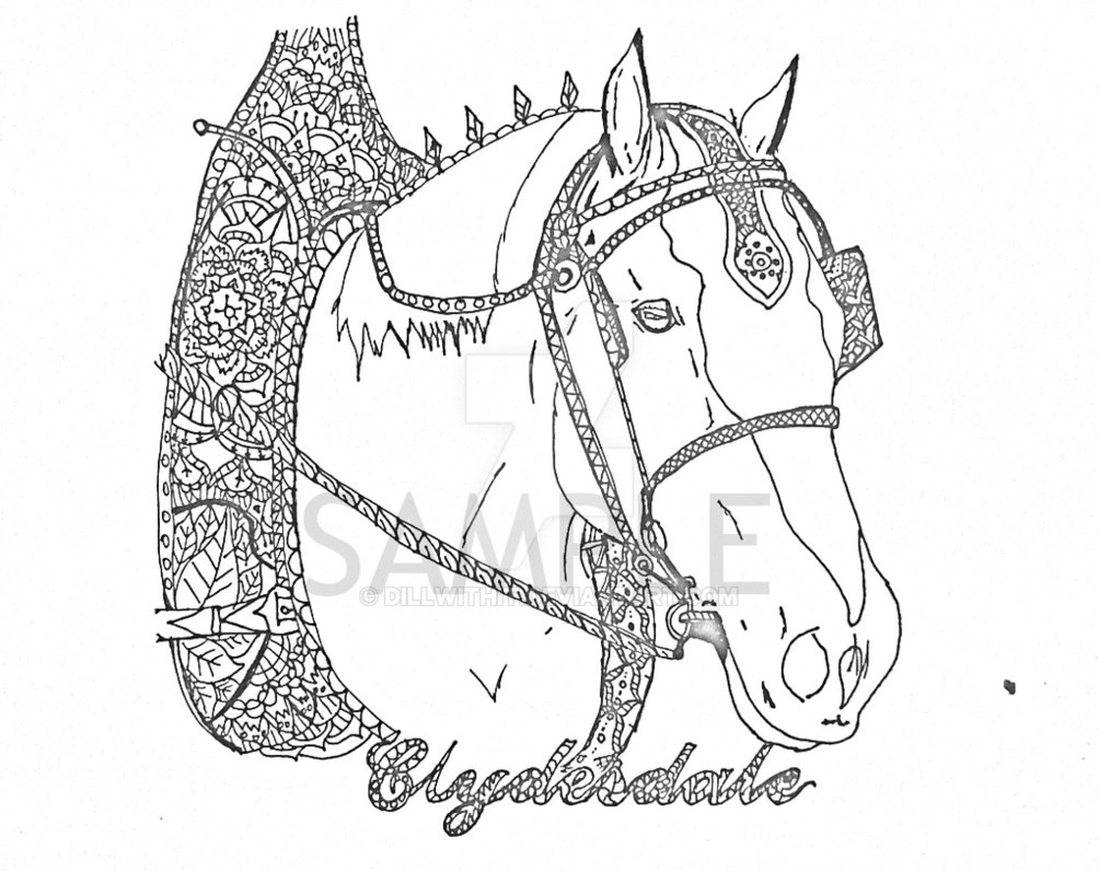 Clydesdale coloring #9, Download drawings