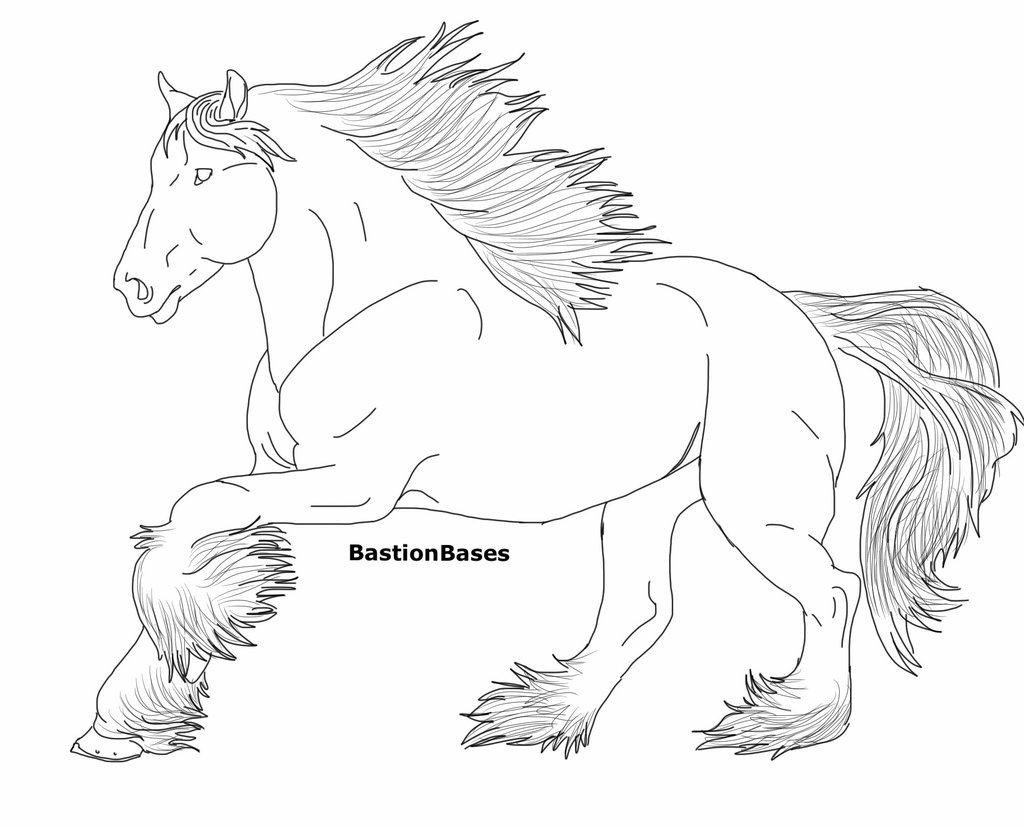 Clydesdale coloring #12, Download drawings