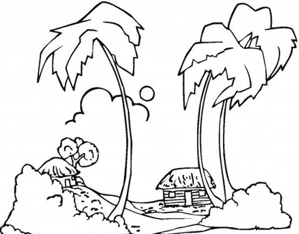 Coast coloring #1, Download drawings