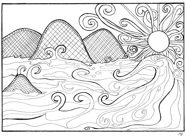 Coastline coloring #11, Download drawings