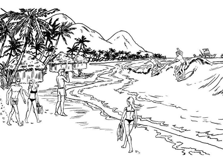 Coastline coloring #1, Download drawings