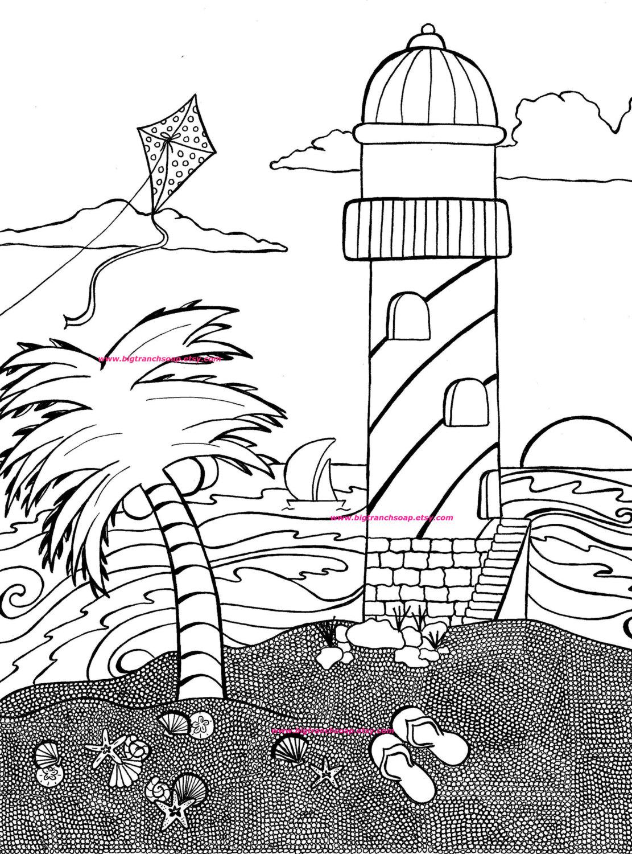 Coastline coloring #2, Download drawings