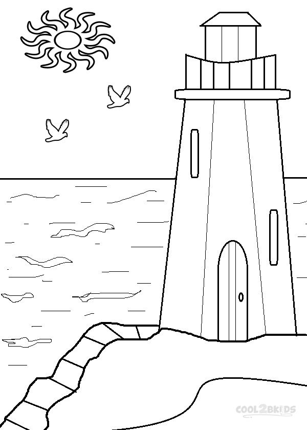 Coastline coloring #4, Download drawings