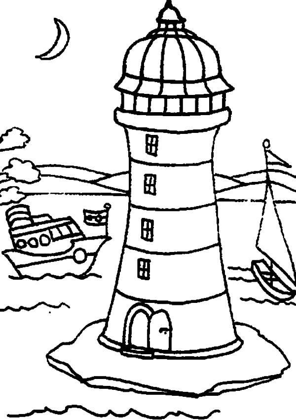 Coastline coloring #17, Download drawings