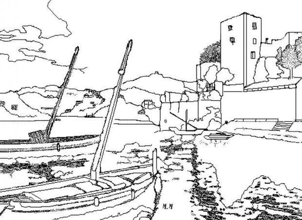 Coastline coloring #16, Download drawings