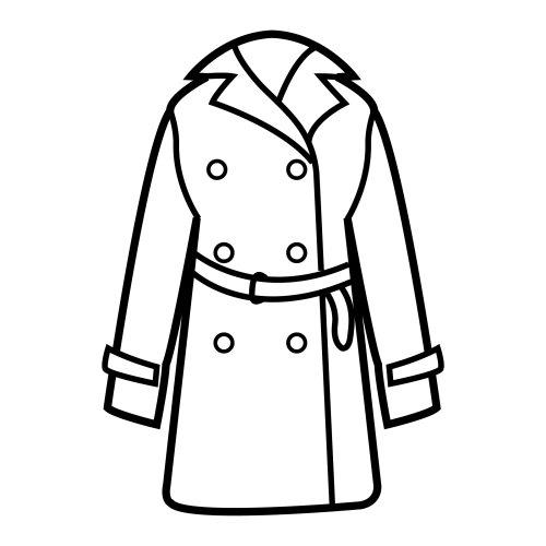 Coat coloring #14, Download drawings