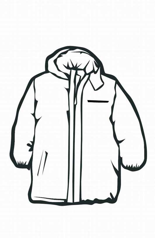 Coat coloring #3, Download drawings