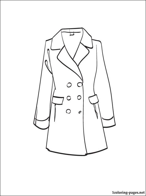 Coat coloring #8, Download drawings