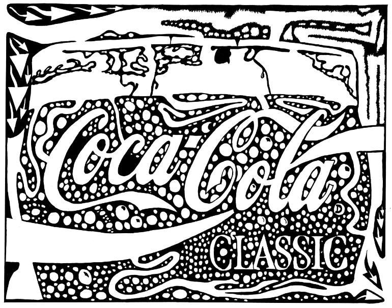 Coca Cola coloring #1, Download drawings