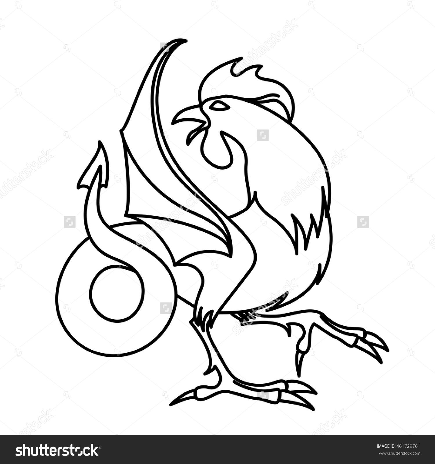 Cockatrice coloring #6, Download drawings